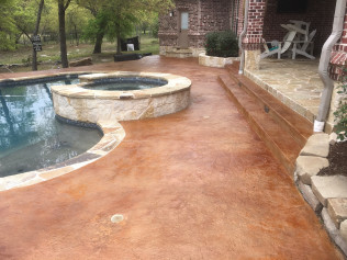 Pool Deck: Power Wash, Re-Stain & Re-Seal
