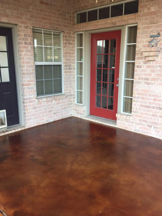 Outdoor Cola Stain Patio