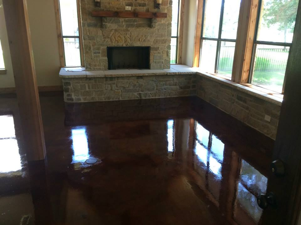Stained & Sealed Concrete Floors