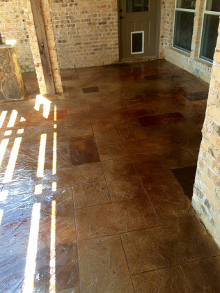 Ashlar Slate Pattern Decorative Concrete