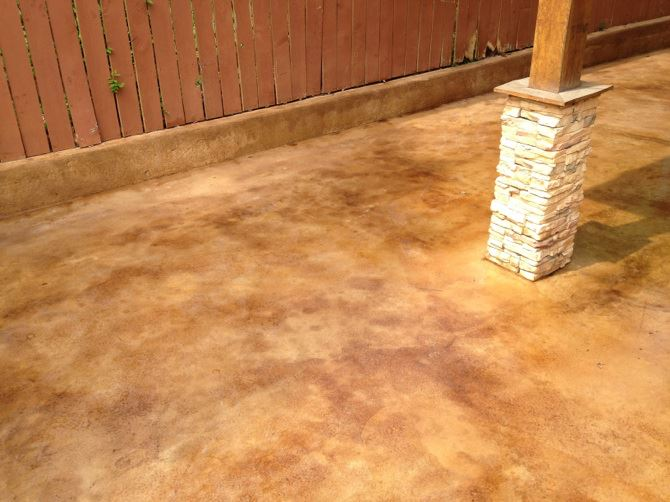 Outdoor Patio Stained Sealed