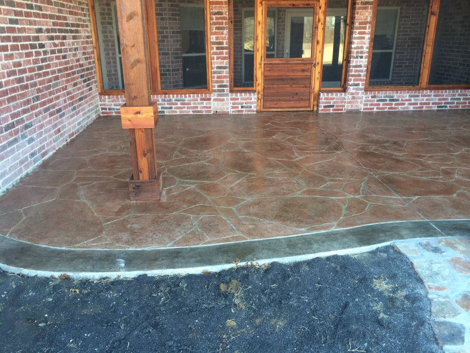 Residential concrete gallery fort worth tx lone star for Decorative concrete floors residential