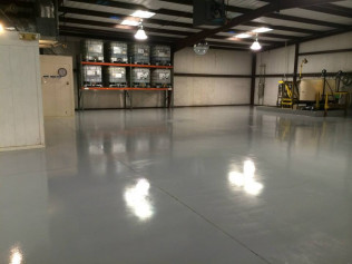 Industrial Strength Coating in Gray - Keeps Your Floor Dust Free