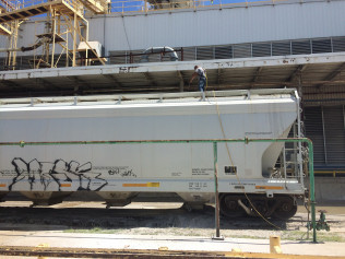 Cleaning Out a Rail Car