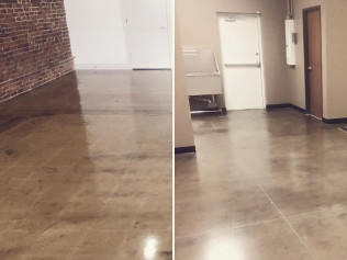Polished floors allows for the perfection to be in the imperfections!
