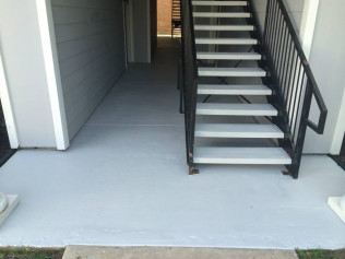 Breezeway & Stairs Sealed w/ Color Sealer