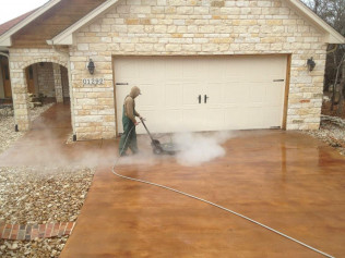 Steam Clean and Reseal Existing Stained Concrete