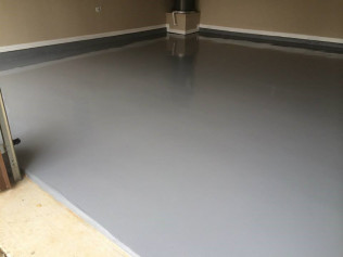 Solid color epoxy - less expensive but just as effective.